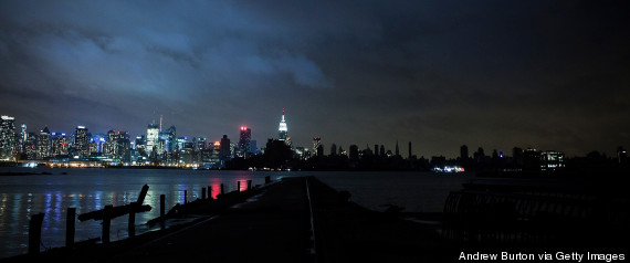 new york skyline sandy