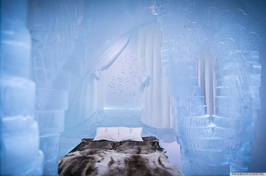 sweden 39 s icehotel is real but it looks like a disney fantasy huffpost. Black Bedroom Furniture Sets. Home Design Ideas