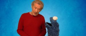 SIR IAN MCKELLEN COOKIE MONSTER