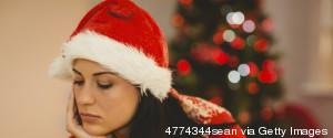WOMAN CHRISTMAS SAD