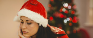 Woman Christmas Sad