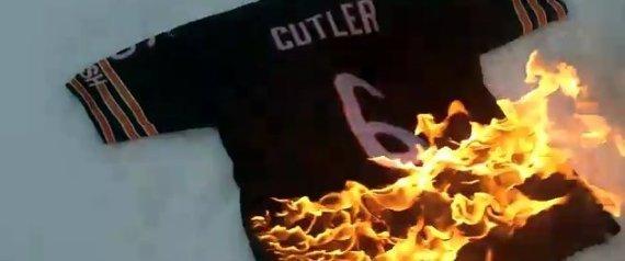 JAY CUTLER JERSEY BURNING