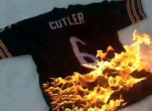 Jay Cutler Jersey Burning