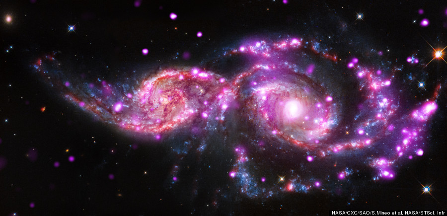 merging galaxies