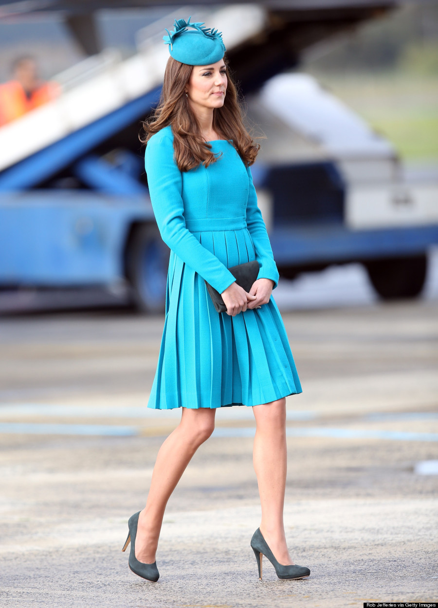 Catherine walker red coat dress a - The Best Outfits Kate Middleton Wore In 2014 Photos