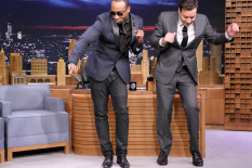 Jimmy Fallon and Roots band member do the 'Shmoney Dance'