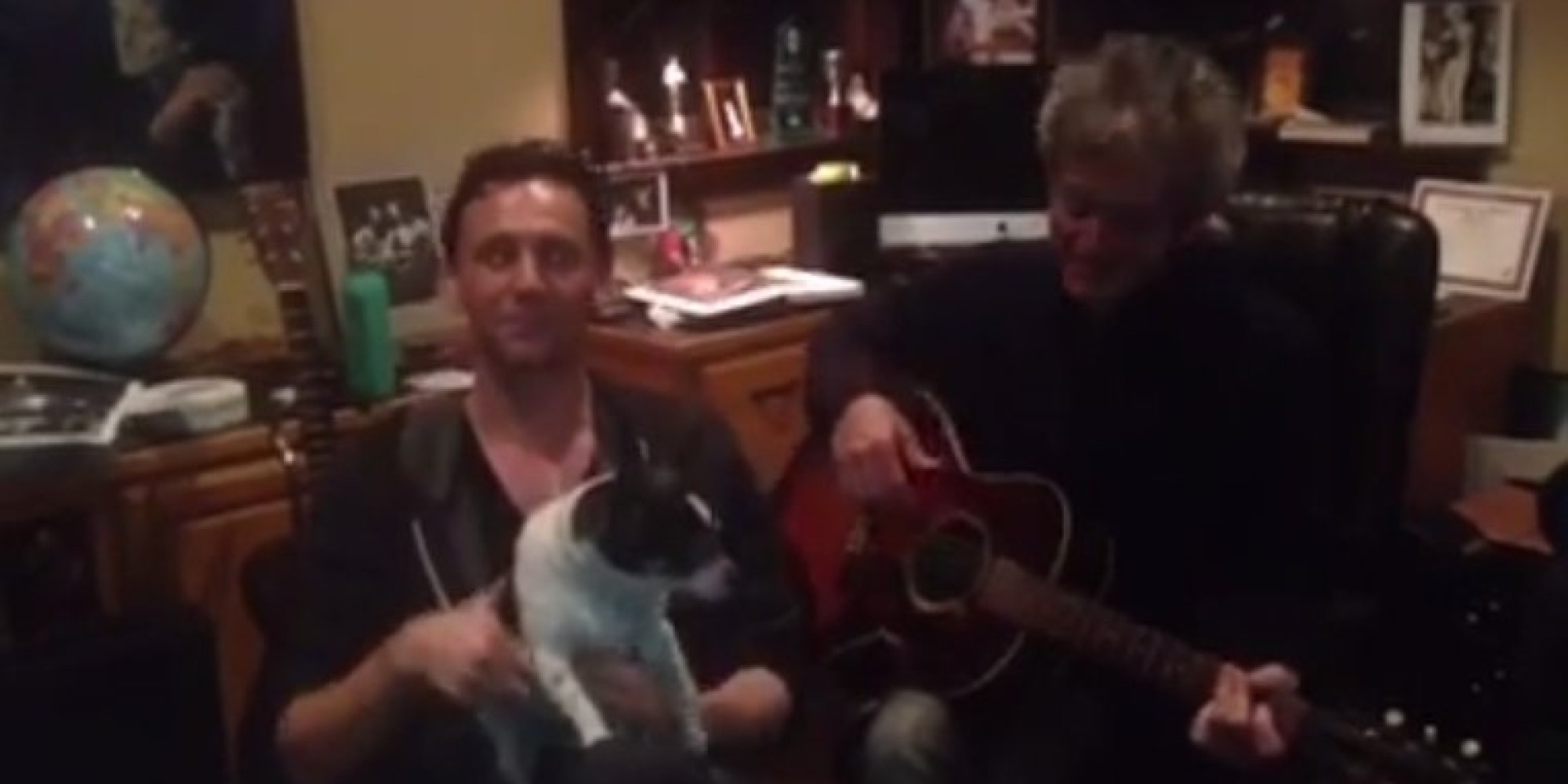 Watch Tom Hiddleston Sing A Christmas Carol With A Dog