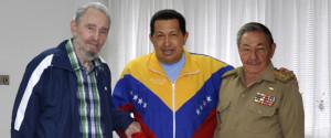 Raul Castro Fidel Castro Hugo Chavez