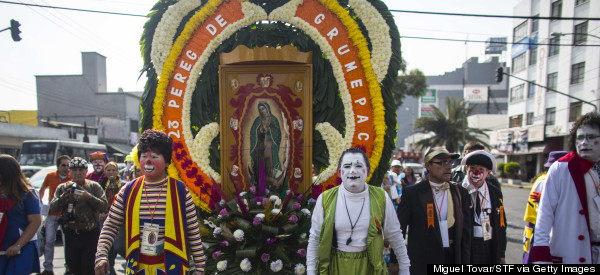 Dozens Of Mexican Clowns Make A Religious Pilgrimage