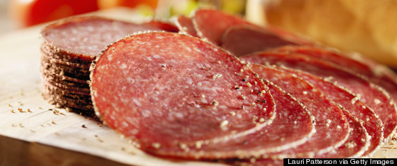 cured sausage