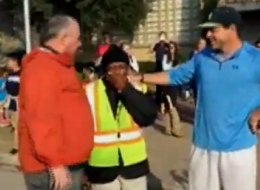 Dads' Christmas Surprise Leaves Beloved Crossing Guard Totally Speechless