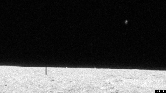 This image seems to show a UFO spying on the Apollo 12 misson