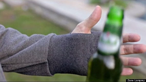drinking jacket gloves