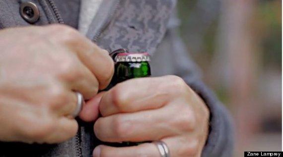 drinking jacket opener