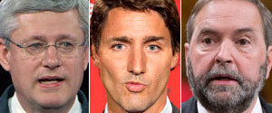 Harper Trudeau Mulcair