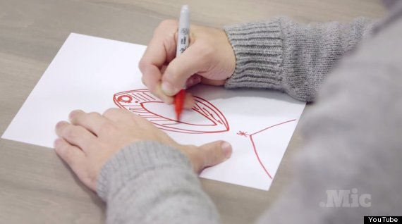 men draw vaginas