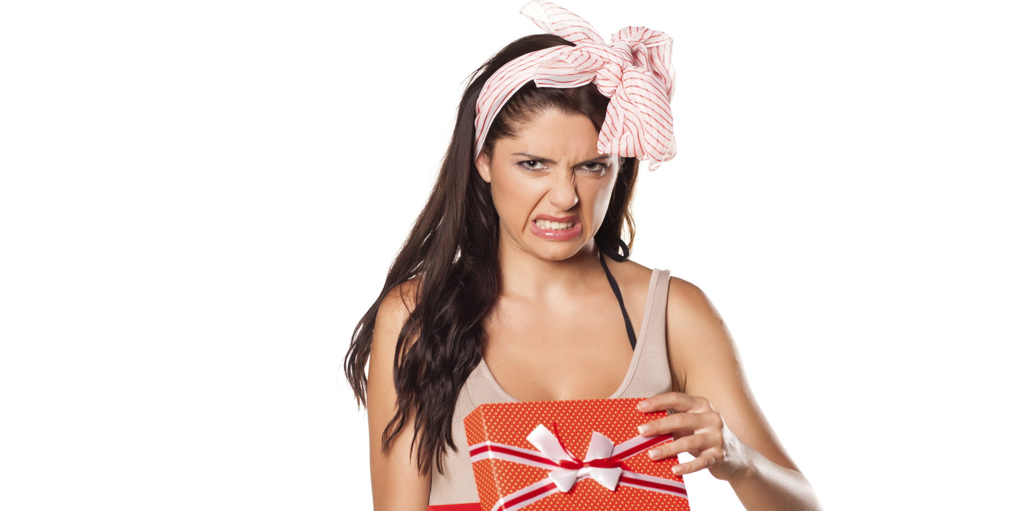 The 5 Stages Of Receiving A Bad Christmas Gift