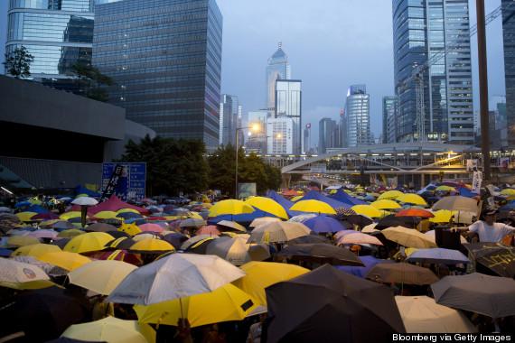 hong kong umbrella tear gas