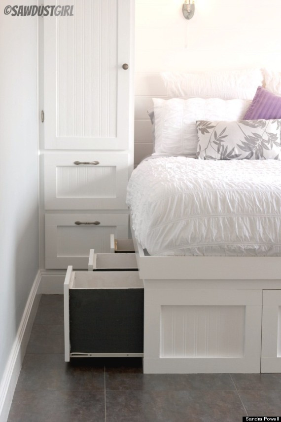 sneaky bed storage