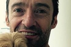 Hugh Jackman and Pup