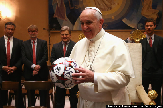 pope francis soccer