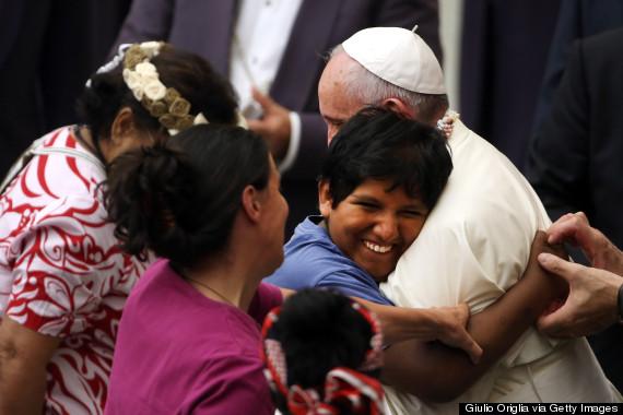 pope francis hug