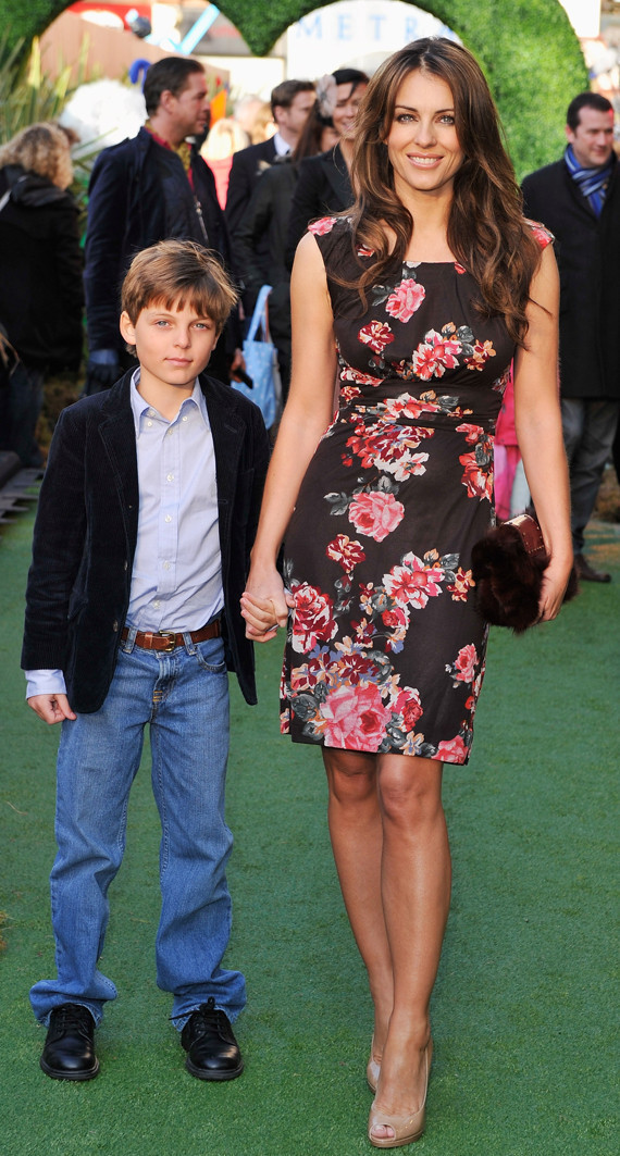 Elizabeth Hurley Steps Out With Son Damian Photos  Huffpost-5011