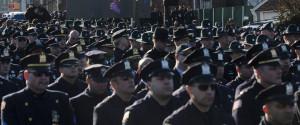 Police Backs Turned