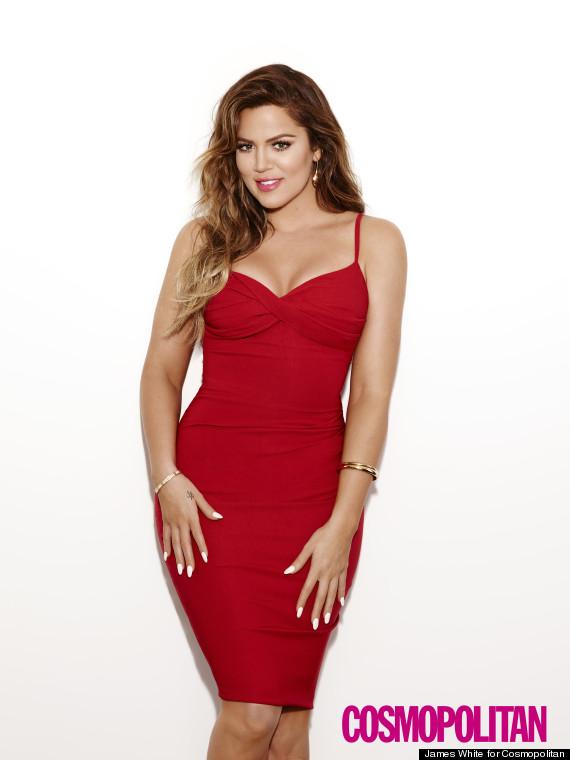 khloe k red dress
