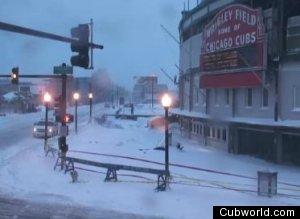 Wrigley Field Snow Storm