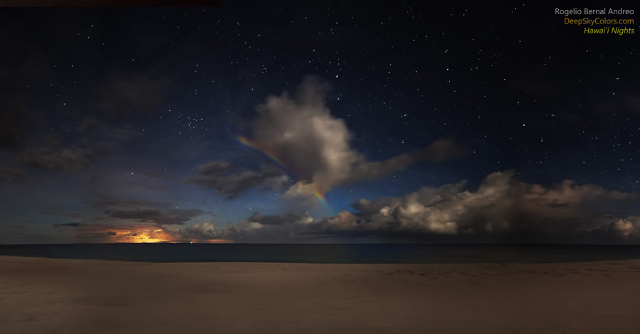 molokai beach rainbow