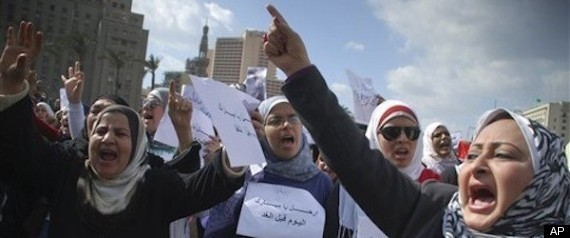 EGYPT WOMEN PROTESTS