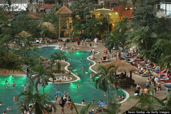 Tropical islands resort is a caribbean getaway inside a - Indoor swimming pool berlin ...