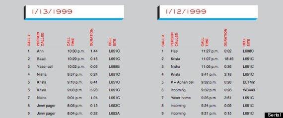 call log serial