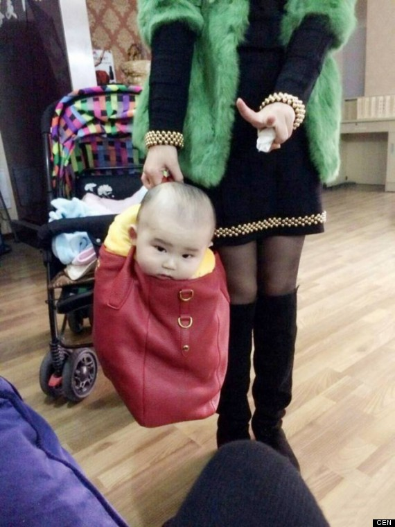 woman handbag baby