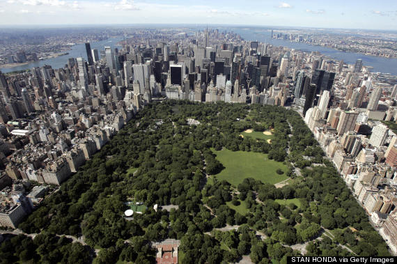 central park new york aerial