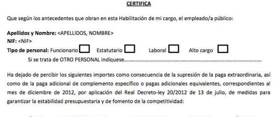 Este es el formulario para que los empleados p blicos cobren el 25 de la extra de 2012 - Se cobra la pension el mes de fallecimiento ...