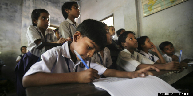 indian students in a classroom