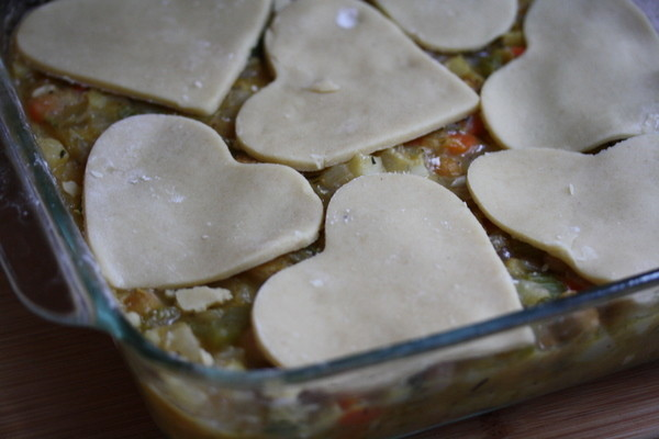 recently i made this chickpea vegetable pot pie to fulfill