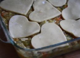 Vegetarian Valentine's Pot Pie