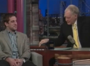 Aaron Rodgers On Letterman