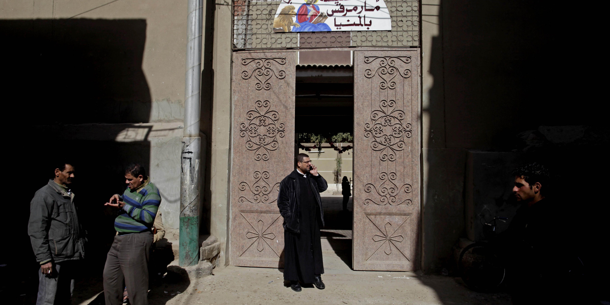 Coptic Church Burned Guarding Coptic Church in