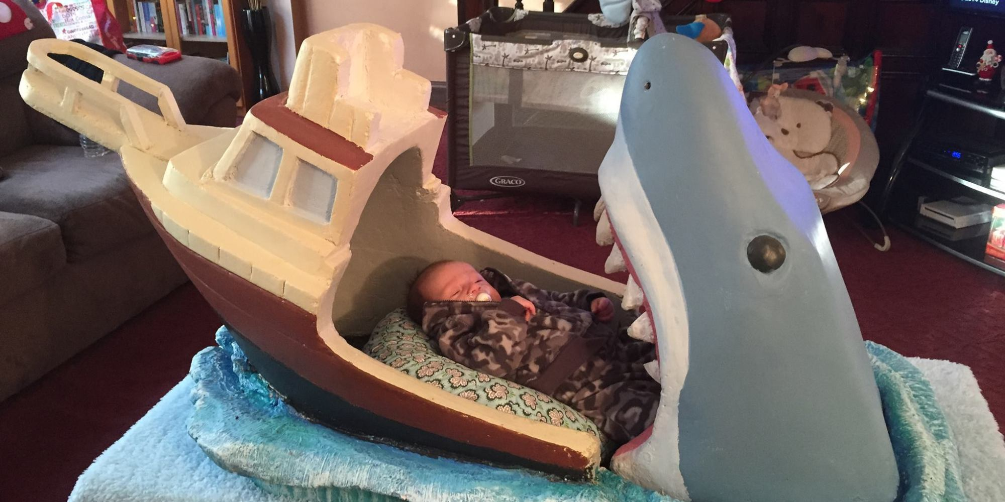 Jaws Themed Baby Crib Takes A Giant Bite Out Of The Internet