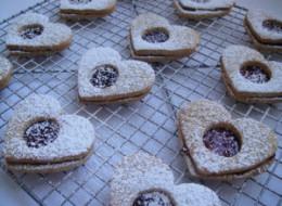 Happy (?) Valentine's Day Linzer Cookies