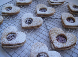 Happy (?) Valentine's Day Linzer Cookies