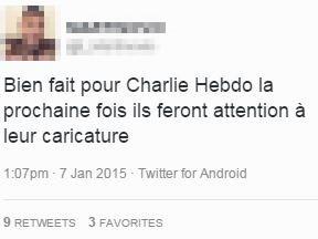 charlie hebdo tweet bien fait attaque