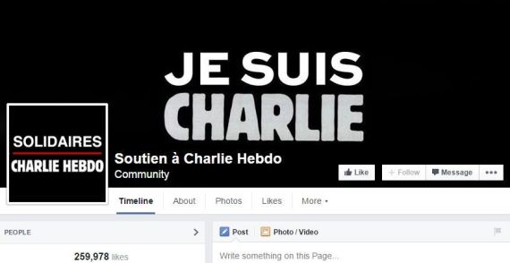 je suis charlie page facebook