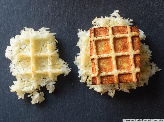 waffle iron tofu