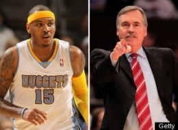 Mike Dantoni Carmelo Anthony