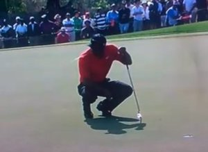 Tiger Woods Spitting Dubai